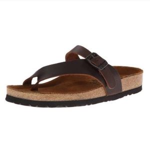 NAOT Tahoe classic brown leather sandals 8